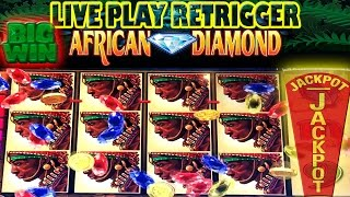 ⭐ BIG JACKPOT HANDPAY ⭐ LIVE PLAY 💎 AFRICAN  DIAMOND 💎 HIGH LIMIT SLOT MACHINE