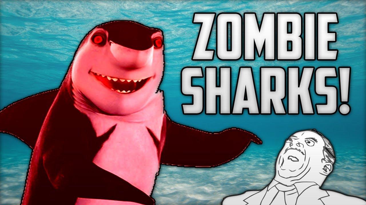 ZOMBIE SHARKS! (Shark Attack Deathmatch Funny Moments ...