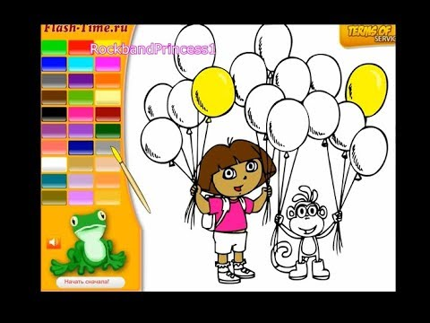 Dora The Explorer Coloring Book Pages Online Video Game