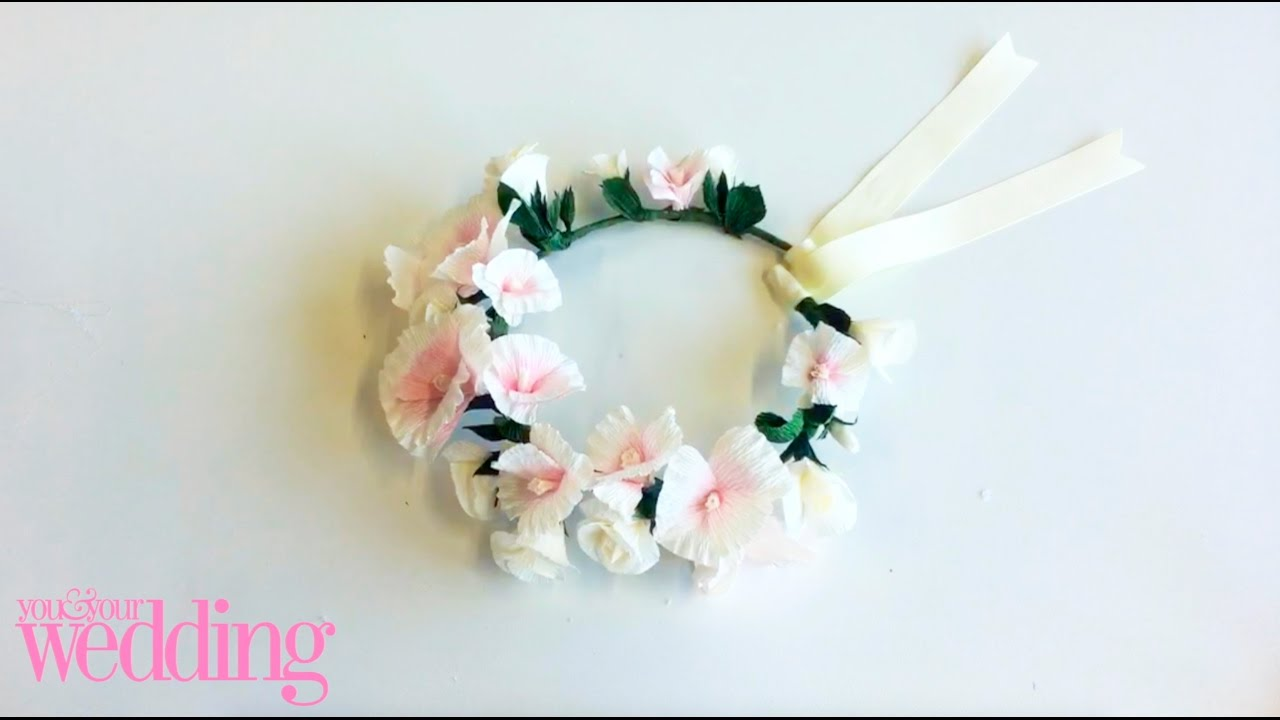 Diy Bride How To Make A Paper Flower On Hole Wedding Craft