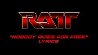 Watch Ratt Nobody Rides For Free video