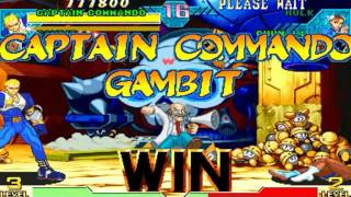 Marvel vs Capcom: Clash of Super Heroes (Arcade) - Captain Commando/Gambit Longplay