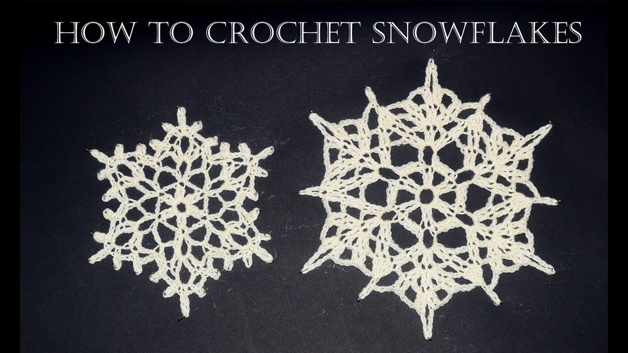 How To Crochet Snowflakes Easy Tutorial Youtube