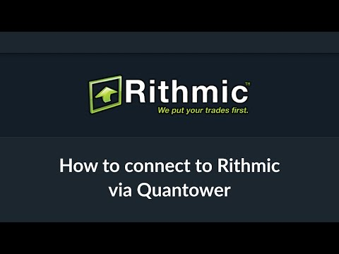 Connection to Rithmic Data Feed via Quantower platform