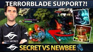 SECRET vs NEWBEE - WTF TERRORBLADE POS. 4 SUPPORT? Dreamleague Season 9 Minor - Dota 2