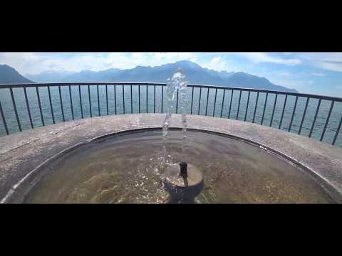 Sur les bords du lac Léman, Montreux, Suisse 2018