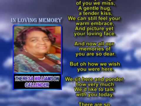 Theresa Williamson Callender memorial