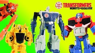 Transformers Robots In Disguise Surprise Snow Storm Magic Optimus Prime Bumblebee Sideswipe