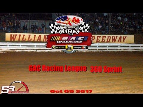GAC RACING LEAGUE 360 Sprint Dirt Car Williams Grove Speedway