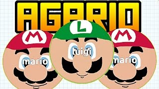 Agario (Agar.io) Mods FR #4 | SKIN DE MARIO ET LUIGI!