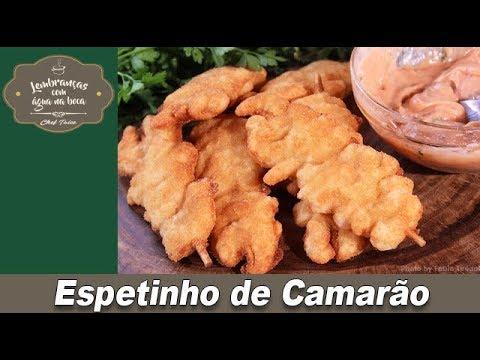 Espetinho de camarão - Lembranças com água na boca - Chef Taico