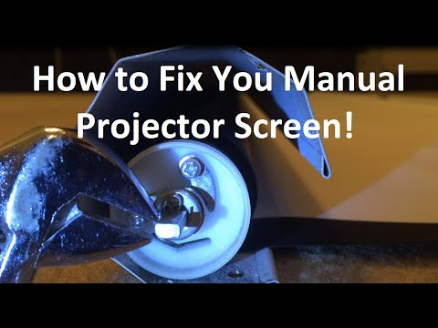 Projector Screen Tensioning
