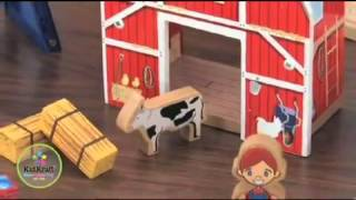 Toy Farm Wooden Train Set By Kidkraft Compatible With Brio And Thomas And Friends 17827