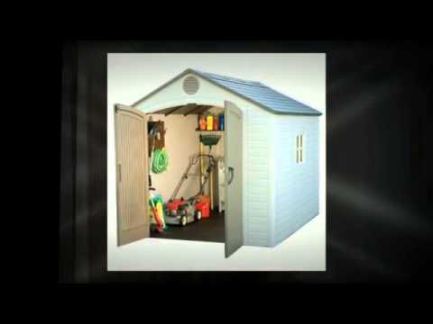 Lifetime 6405 8 By 10 Foot Outdoor Storage Shed With Window Skylights And Shelving Vdo