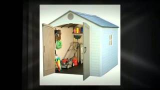Lifetime 6405 8-by-10-foot Outdoor Storage Shed With Window, Skylights, And Shelving - Vdo