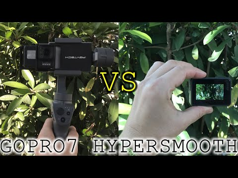 GOPRO7 hypersmooth test with gimbal and without