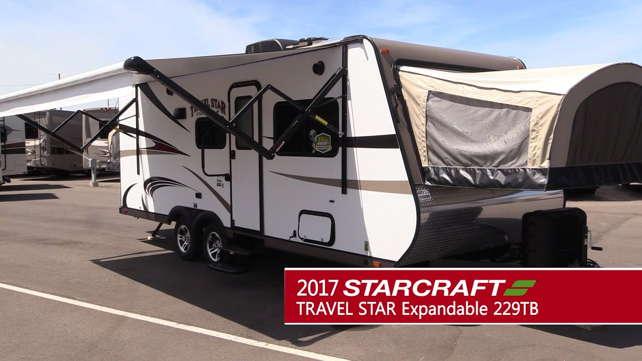 Expandable Travel Trailers >> GeneralRV.com | 2017 STARCRAFT Travel Star Expandable 229TB - YouTube