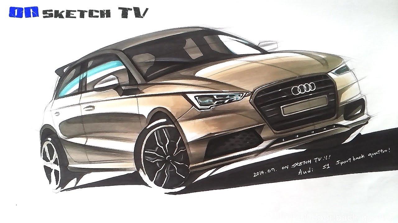 온스케치 Tv Car Sketch Audi S1 Sportback Quattro Sketch Color