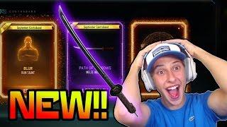 BO3 NEW EPIC TAUNTS, WEAPONS, & THEMES!! (New BO3 Supply Drop Opening Path Of Sorrow Melee Weapon)