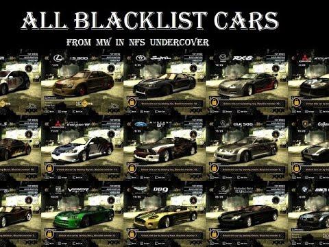 All Blacklist Cars With Junkman Parts Nfsmw Bmw M3 Gtr Razors