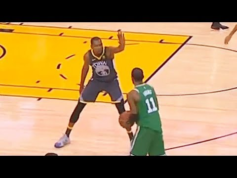 Kyrie Irving Shows Kevin Durant He Can't Be Guarded! Celtics vs Warriors January 27, 2018