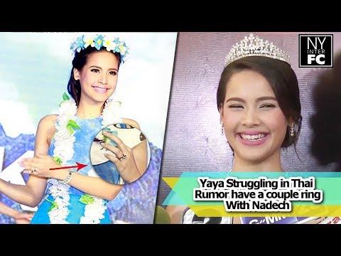 [ENG SUB] Yaya Urassaya - Struggling in Thai, Rumor have a couple ring w/ Nadech | Thaich2 29/01/16