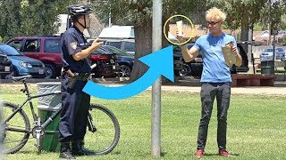 ESCAPING COPS BY USING MAGIC!! (SCARY)