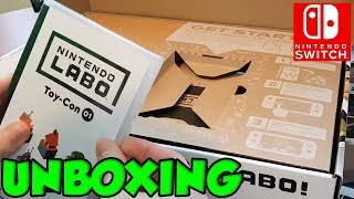 Nintendo Labo Unboxing and Tutorial (I LOVE THIS!)