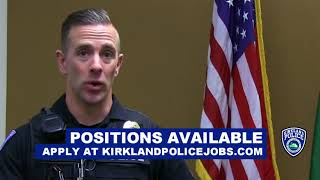 Kirkland Police Department Officer Carpenter