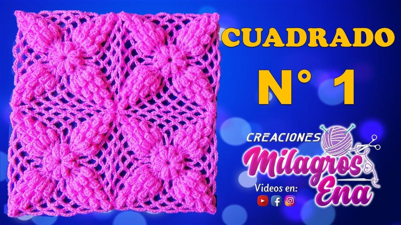 Mb cuadrado a crochet en puntos popcorn paso a - Cuadros abstractos paso a paso ...