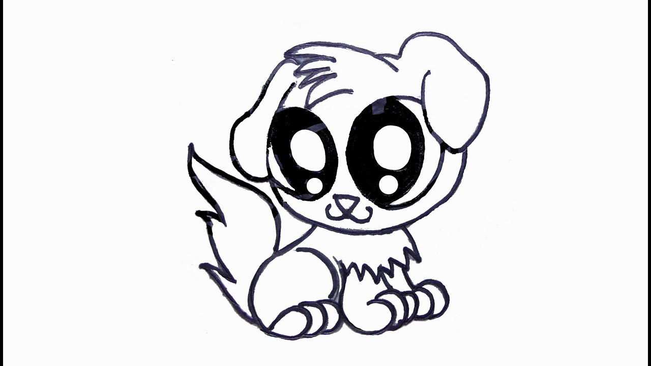 How To Draw A Cute Puppy Drawing For Kids Youtube