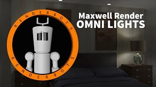 Cinema 4D r16 :: Maxwell Render :: Omni Lights :: Tutorial