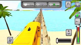 train simulator 2021 gameplay #2-Car games Android IOS gameplay ጌም ጨዋታ screenshot 5