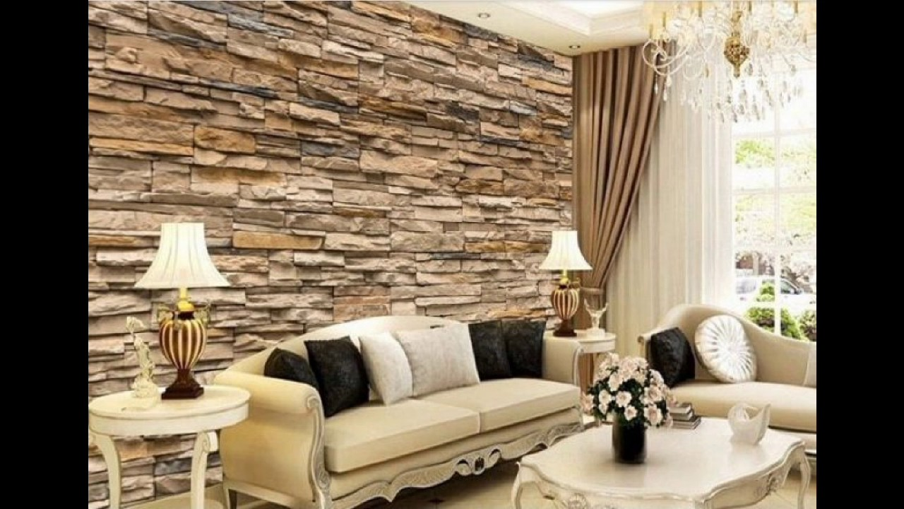 17 fascinating 3d wallpaper ideas to adorn your living for Sitting room wallpaper