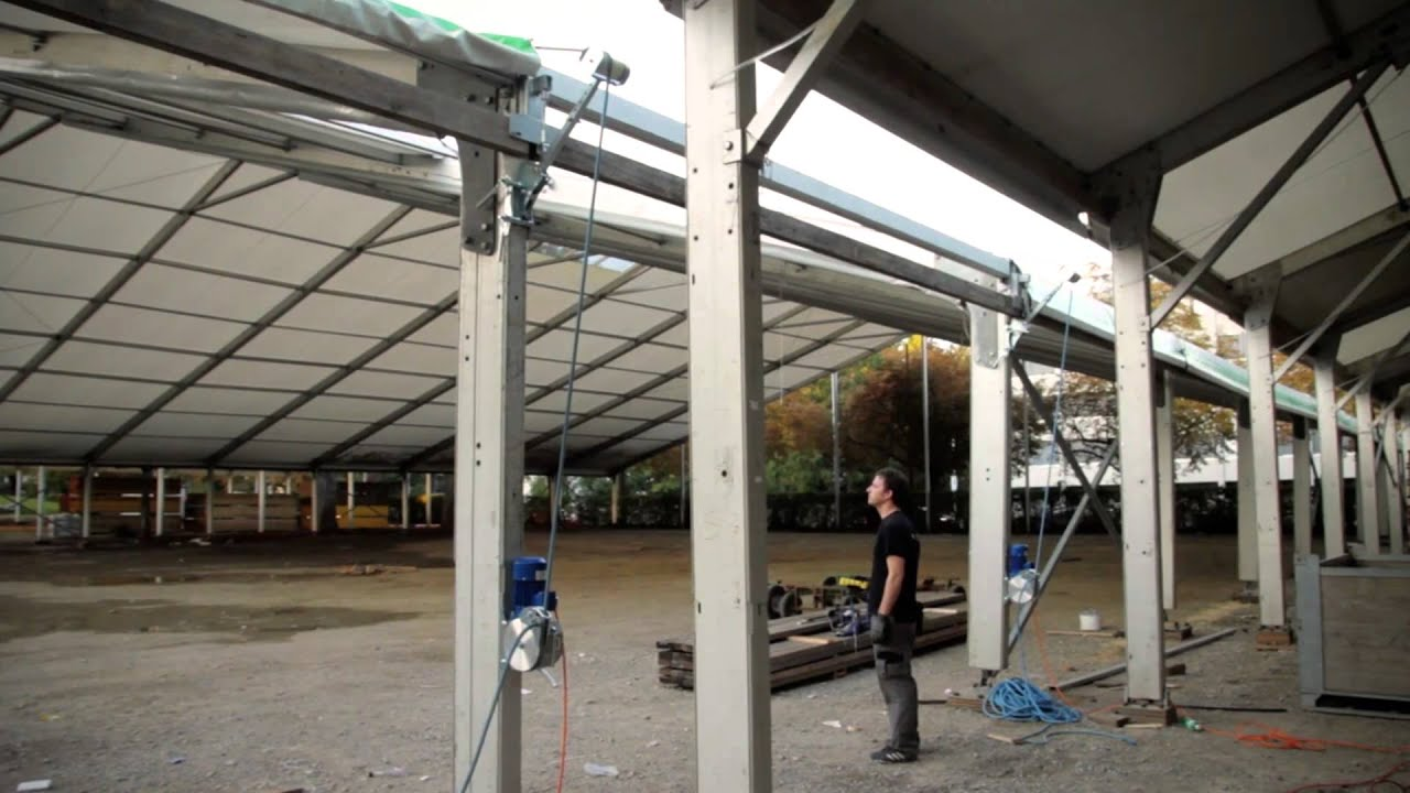 SKP tent-master - Automatisierte Zeltmontage - mount tents ...