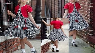 DIY Designer Baby Frock With Jacket Koti Cutting & Stitching Full Tutorial