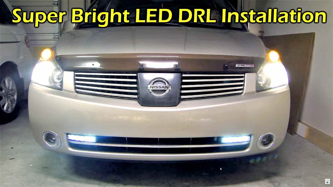 led drl  daytime running light   u0026 controller install