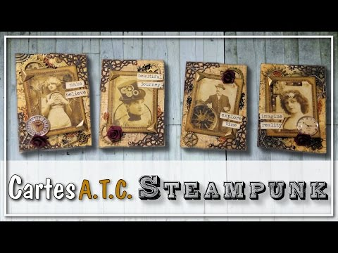 "[CARTES A.T.C] Cartes ATC Steampunk ""Mechanical Illusions"" by Scrapberry"