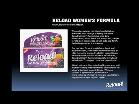 RELOAD WOMEN'S FORMULA. with Calcium for Bone Health.