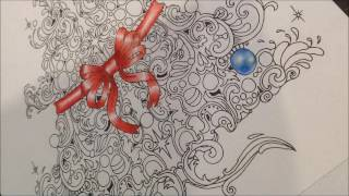 Bauble tutorial.  How to colour a christmas bauble using pencils!