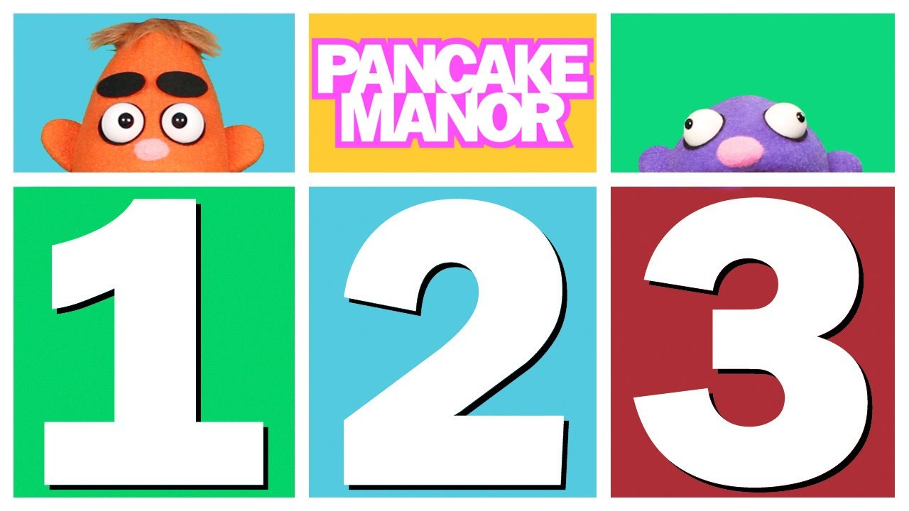 count 1 2 3 counting song for kids pancake manor youtube