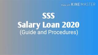 Download SSS Salary Loan (Guide and Procedures) 2020