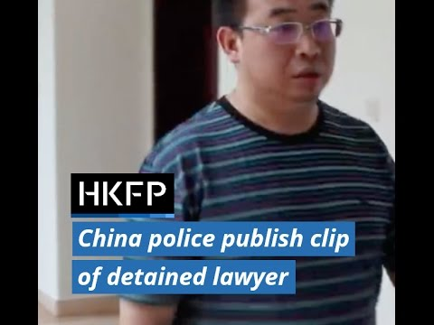 Video of detained activist Jiang Tianyong posted by Changsha police