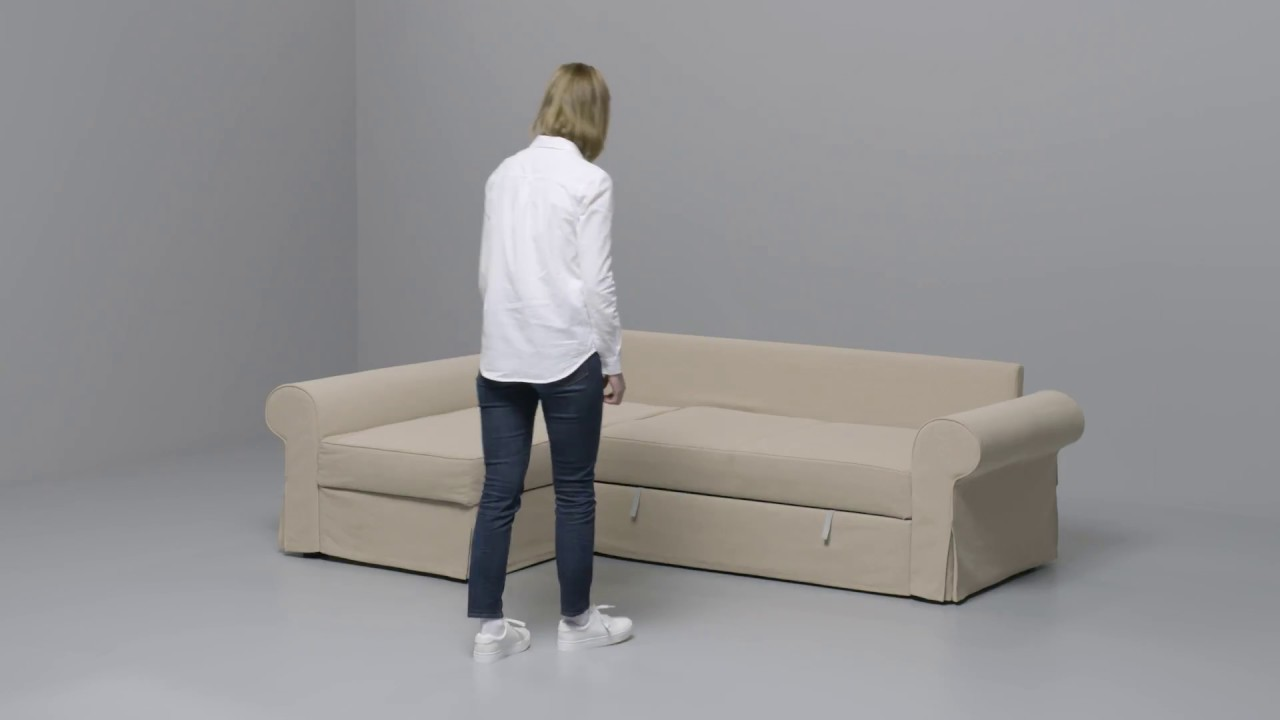 Backabro Ecksofa Ikea Backabro Slaapbank Met Chaise Longue Youtube
