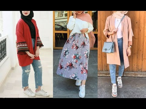 ddffa9acf تنسيقات ملابس محجبات لفصل الربيع 2019 Spring Hijab Lookbook. Al Aniqah  الأنيقة