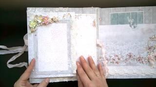 Альбом С днем свадьбы из бумаги Bee Shabby
