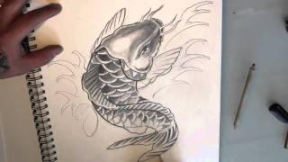 hp nguyen draws a koi carp