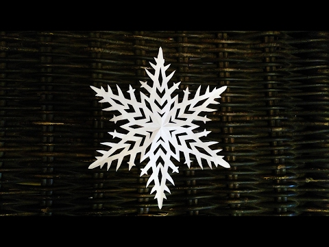 How to make a paper snowflake НАСТОЯЩЯЯ СНЕЖИНКА ПОШАГОВО КАК ВЫРЕЗАТЬ СНЕЖИНКУ