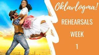 WEEK IN THE LIFE OF REHEARSALS | OKLAVLOGMA WEEK 1 | Georgie Ashford
