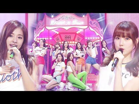"""Special Stage"" GFRIEND & TWICE - Gee @ Lagu Populer Inkigayo 20160313"